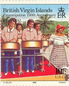 1984 - British Virgin Islands -Emancipation 150th anniversary