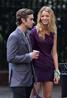 Chace Crawford and Blake Lively as Nate and Serena
