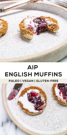 AIP English Muffin (Paleo, Gluten-free, Vegan) and until you have an allergen-friendly, crispy and chewy English muffin Paleo Vegan, Paleo Bread, Paleo Diet, Paleo Pizza, Keto, Paleo Recipes, Gourmet Recipes, Real Food Recipes, Baking Recipes