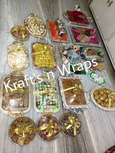 Indian Wedding Tray Decoration Indian Wedding Trousseau Gift Packing Gift Packing  Weddings