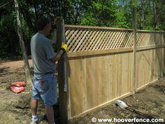 Lattice Privacy Fence Ideas