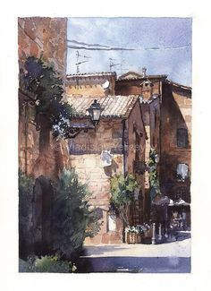 WATERCOLOR WORKS BY ARTIST VLADISLAV YELISEYEV #watercolor jd