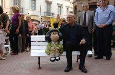 anniversary of mafalda creator Quino Jersey Girl, Baby Strollers, The Creator, Sculptures, Children, People, Monuments, Salvador, Girls