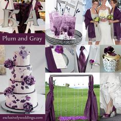[ Wedding Plum Wedding Purple Grey Wedding Colors Fall Wedding 7 ] - Best Free Home Design Idea & Inspiration Gray Wedding Colors, Plum Wedding, Wedding Color Schemes, Wedding Bells, Dream Wedding, Wedding Day, Summer Wedding, Charcoal Wedding, Wedding Prep