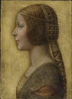 La Bella Principessa (potentially an unknown Da Vinci painting)--thought to be daughter of Duke of Milan on occasion for her wedding.