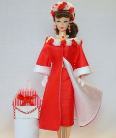 Handmade Vintage Barbie/Silkstone Fashion by Roxy-Red Rose Shantung Outfit-13pcs | eBay