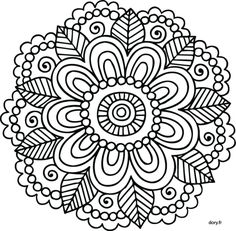 Mandalas para que yo aga Mandalas Painting, Mandalas Drawing, Mandala Coloring Pages, Coloring Book Pages, Dot Painting, Mandala Pattern, Zentangle Patterns, Embroidery Patterns, Zentangles