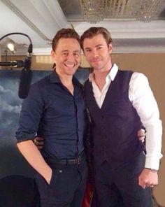 Chris Hemsworth,Tom Hiddleston - Best bromance ever.
