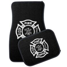 Firefighter Car Mats Personalized  Show it off even in your POV