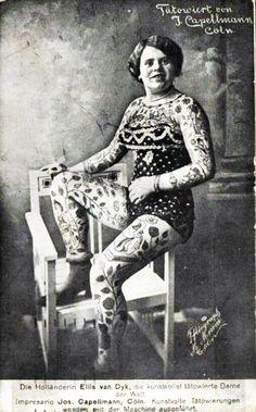 circus performer, 1915