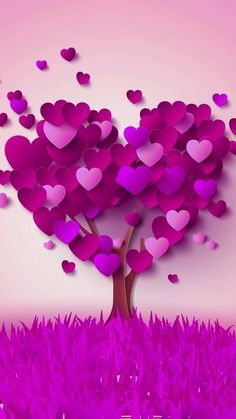 228c7c422a5 A TREE FULL OF PURPLE HEARTS ON PURPLE GRASS IN MY PURPLE WORLD.