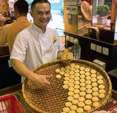Macau biscuits making shop