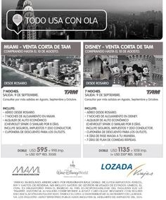 USA desde Córdoba y Buenos Aires! f: lozadalovesyou t: 351 423-0903 m: viajes@lozadaviajes.com