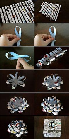 Como fazer flor de papel.