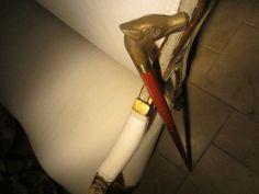 Brass Dog Head Wood Walking Stick Cane – Designer Unique Finds