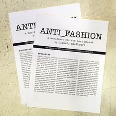 """Li Edelkoort Publishes Manifesto Explaining Why """"fashion Is Obsolete"""" - http://decor10blog.com/decorating-ideas/li-edelkoort-publishes-manifesto-explaining-why-fashion-is-obsolete.html Anti Fashion, 2000s Fashion, Green Fashion, Fashion Brands, Latest Fashion Trends, Spring Fashion, Article Writing, Dezeen, Costumes Couture"""