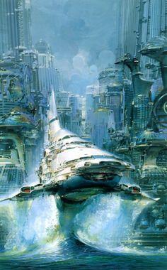 john berkey spaceship illustration-01