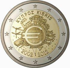 2 Euro Commemorative Coins Cyprus 2012, Ten years of Euro cash