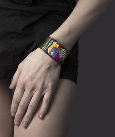 Dekorativní výrazný náramek inspirovaný kubismem. #sperkymoda.cz #sperky #jewellery #jewelry #fashionjewellery #bizu #bracelet #czech #czechgirl #náramky Bracelets, Accessories, Fashion, Moda, Fashion Styles, Bracelet, Fashion Illustrations, Arm Bracelets, Bangle