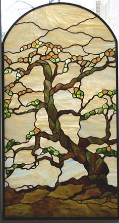 Lancaster Stained Glass Designs - gorgeous design, love the twisted branches - Stained Glass Designs, Stained Glass Panels, Stained Glass Projects, Stained Glass Patterns, Leaded Glass, Stained Glass Art, Tiffany Glass, Tiffany Stained Glass, Mosaic Art