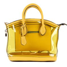 Clear Handbags Yellow Diamond Heart Clear Handbags, Yellow Handbag, Clear Bags, Yellow Fashion, Diamond Heart, Style Inspiration, Wallet, Clutches, Heaven