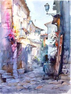 Watercolor by Igor Sava Italy #watercolor jd