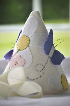 Felt Party Hat   Butterflies in the Garden by StellandLivi on Etsy