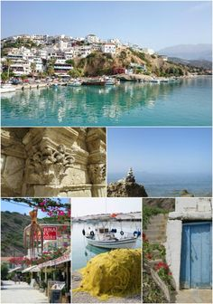 Agia Galini, Crete, with beach art, fishing boats, cute doors, octopus and a bit of Rethymnon too