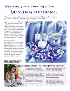 Mind, Body, Spirit Collection - Writing Your Own Spells Healing Ribbons