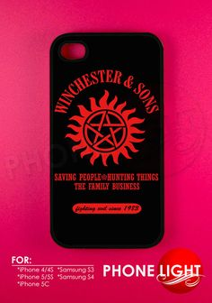 Supernatural Winchester & Sons Phone Case  Rubber by PHONELIGHT, $13.99