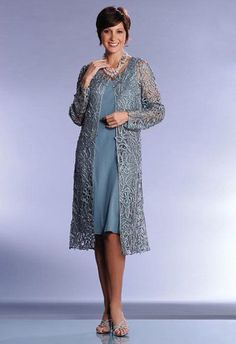 a4f8062335f Soulmates Formal Duster C880 sheath with lacey long jacket. Love this.  Comes in 15