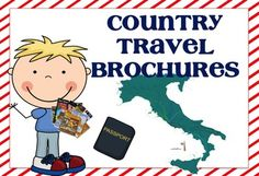 Country Travel Brochure: Template and Internet Research Resources - Elementary Learning Solutions Writing Resources, Writing Services, Teaching Resources, Teaching Ideas, Informational Writing, Persuasive Writing, Essay Writing, Zumba Kids, 4th Grade Writing