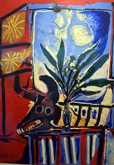 Pablo Picasso still life with a bull's head, 1958 Pablo Picasso, Art Picasso, Picasso Portraits, Picasso Paintings, Picasso Still Life, Cubist Movement, Trinidad, Modern Art Deco, Creative Icon