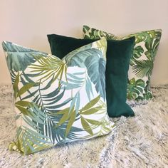 Add a touch of tropical style in your home with this green monstera tropical palm designed jandmade pillow case cover. Available in various patterns & sizes. Palm Tree Leaves, Palm Trees, Boho Green, Tropical Style, Décor Ideas, Handmade Home Decor, Decorative Pillows, Pillow Covers, Projects To Try