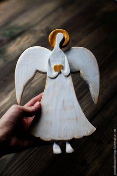 Подарки для влюбленных ручной работы. Ярмарка Мастеров - ручная работа. Купить Ангел из дерева. Handmade. Белый, ангелок, подарок на рождение