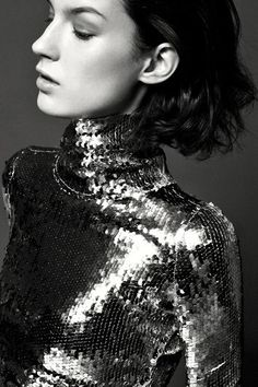sequins + turtleneck
