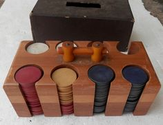 Hey, I found this really awesome Etsy listing at https://www.etsy.com/listing/234924114/vintage-poker-chips-and-carrier-with-a