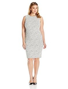 Calvin Klein Women's Plus Size Printed Sheath W/ Zip AT Shoulder - http://www.darrenblogs.com/2016/08/calvin-klein-womens-plus-size-printed-sheath-w-zip-at-shoulder/