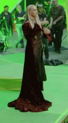 behind the scenes bts Lee Pace Thranduil elvenking Desolation of Smaug the hobit movie