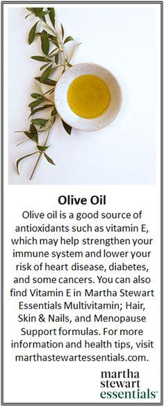 For more healthy living tips, visit marthastewartessentials.com! #healthyliving #vitaminE