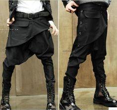 Fashion Korean personality harem pants hairstylist low crotch pants feet pants