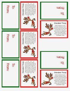 Make Time 2 Craft: Reindeer Poop Stocking Stuffer or Party Favor - Free Printable Christmas Favors, Christmas Eve Box, Christmas Ideas, Christmas Neighbor, Christmas Decorations, Christmas Labels, Christmas Snacks, Neighbor Gifts, Christmas Parties