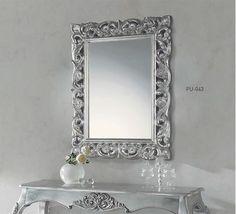 espejo rectangular para consola, espejos plateados, espejos dorados, espejos rusticos, espejos barrocos, espejos clásicos DUGAR HOME