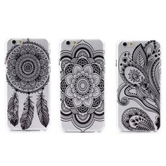 Henna Phone Case selling super gorgeous clear w/ black henna phone cases. I have all designs shown for iPhone 5C and iPhone 6. I have all except for the middle design for iPhone 5/5s. just comment which design you want and which phone you have and I can create a listing for you to purchase with discount shipping! *similar to free people, Brandy melville, urban outfitters* Urban Outfitters Accessories Phone Cases