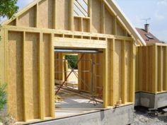 montage des murs en ossature bois