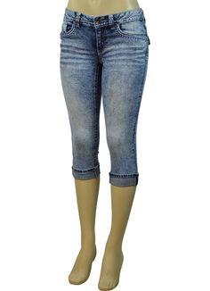 Alfa Global Junior's Low Rise Skinny Denim Capri Pants Alfa Global Junior's Low Rise Skinny Regular 5 pocket Denim Capri Pants with Foldover Hem Online Marketing Services, Global Brands, Spring Outfits, Capri Pants, Pants For Women, Skinny, Womens Fashion, Model