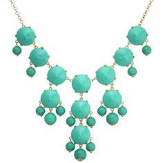 Turquoise Bubble Statement Bib Necklace