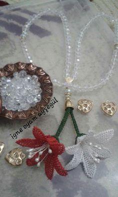 Lale gibi yapılıyor Needle Lace, Diy And Crafts, Jewels, Bracelets, Craft, Lace, Felting, Sewing Needles, Silk