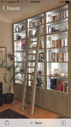 Bookshelves with built in light