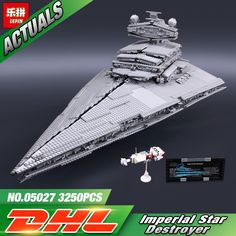 155.00$  Watch here - http://alijcy.shopchina.info/go.php?t=32741387300 - 2016 New LEPIN 05027 3250Pcs Star Wars Imperial Star Destroyer Model Building Kit Blocks Bricks Compatible Toys 10030 155.00$ #magazine